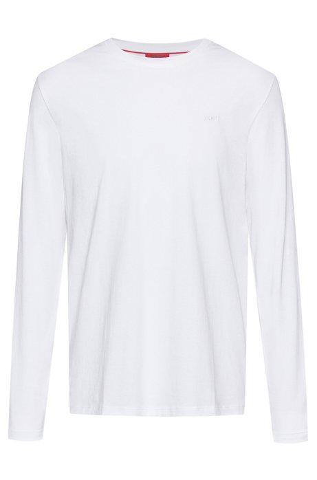 Longsleeve aus Baumwolle mit Reversed-Logo, Weiß