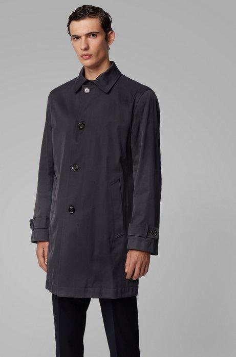 Waterafstotende jas van middelzware twill, Donkerblauw