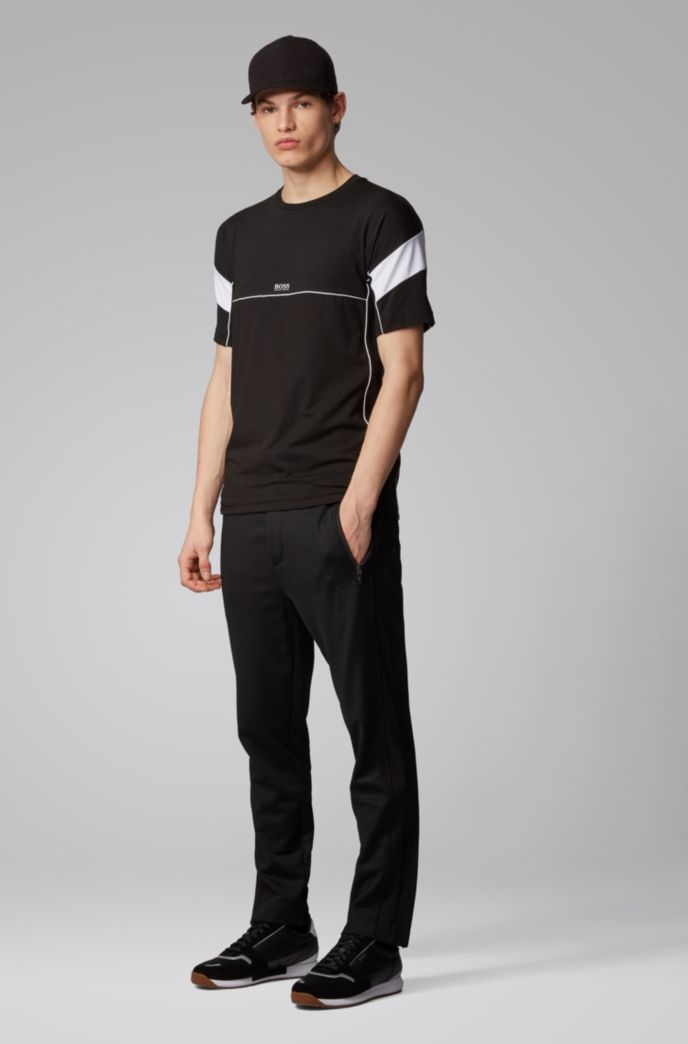 T-Shirt mit S.Café®-Fasern und Kontrast-Details