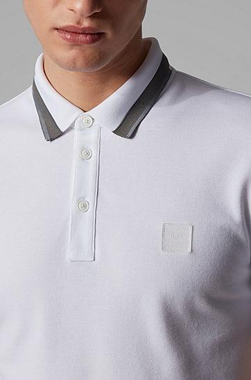 男士修身版 Polo 衫,  100_白色
