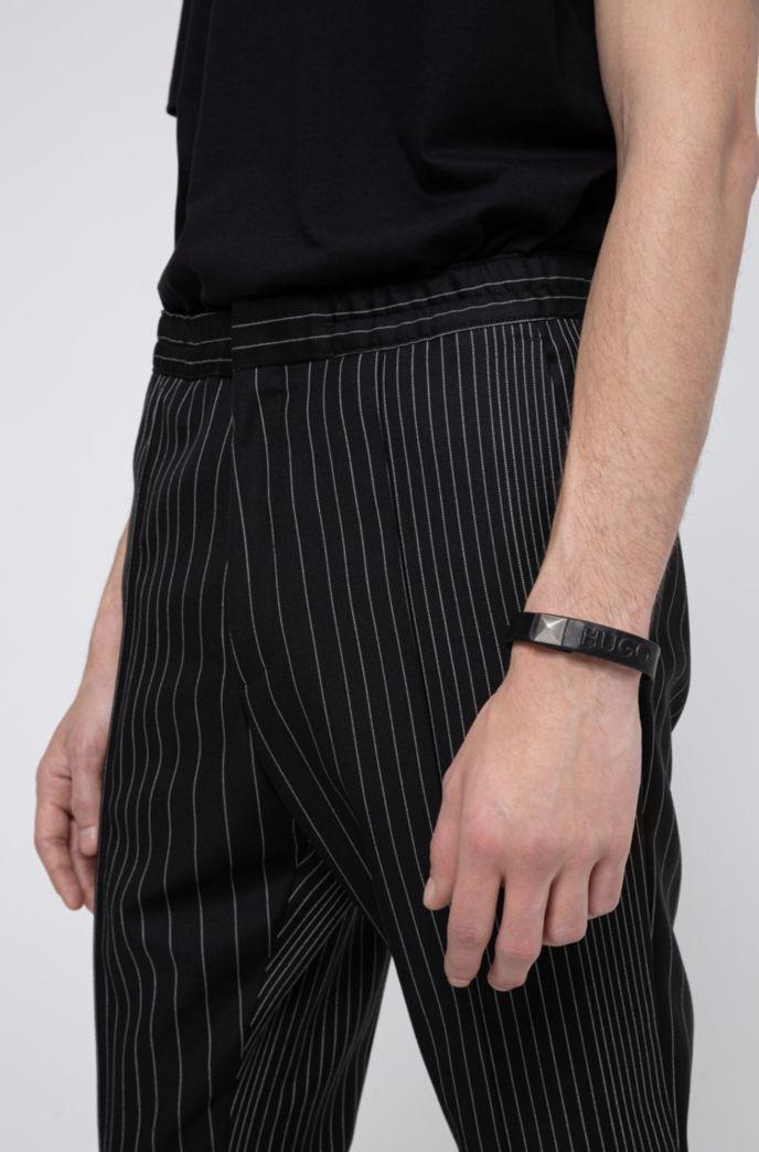 Bracelet logo en cuir à bouton-pression original