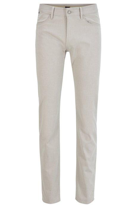 Slim-fit jeans in structured stretch denim, Grey