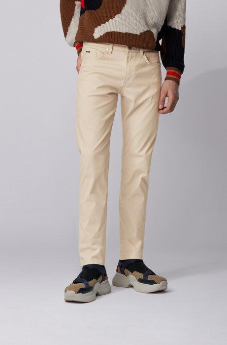 Slim-fit jeans in two-tone stretch denim, Light Beige