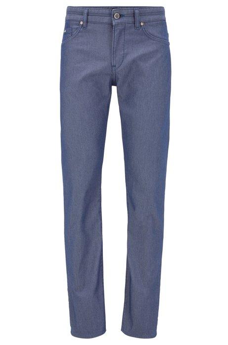 Slim-fit jeans van tweekleurig stretchdenim, Donkerblauw