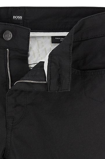 男士常规版型棉混纺斜纹牛仔裤,  001_黑色