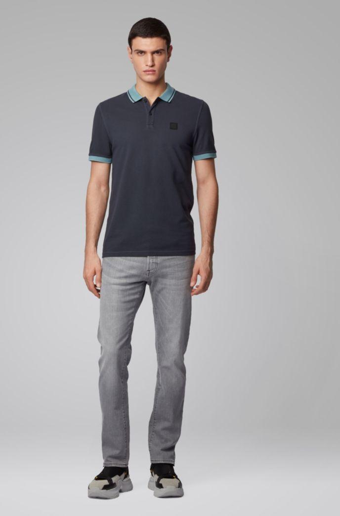Polo Slim Fit en piqué de coton à détails contrastants