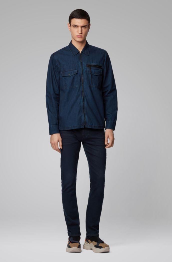 Chemise en jean Oversized Fit à fermeture éclair
