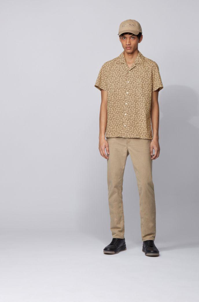 Regular-fit overhemd met all-over girafprint