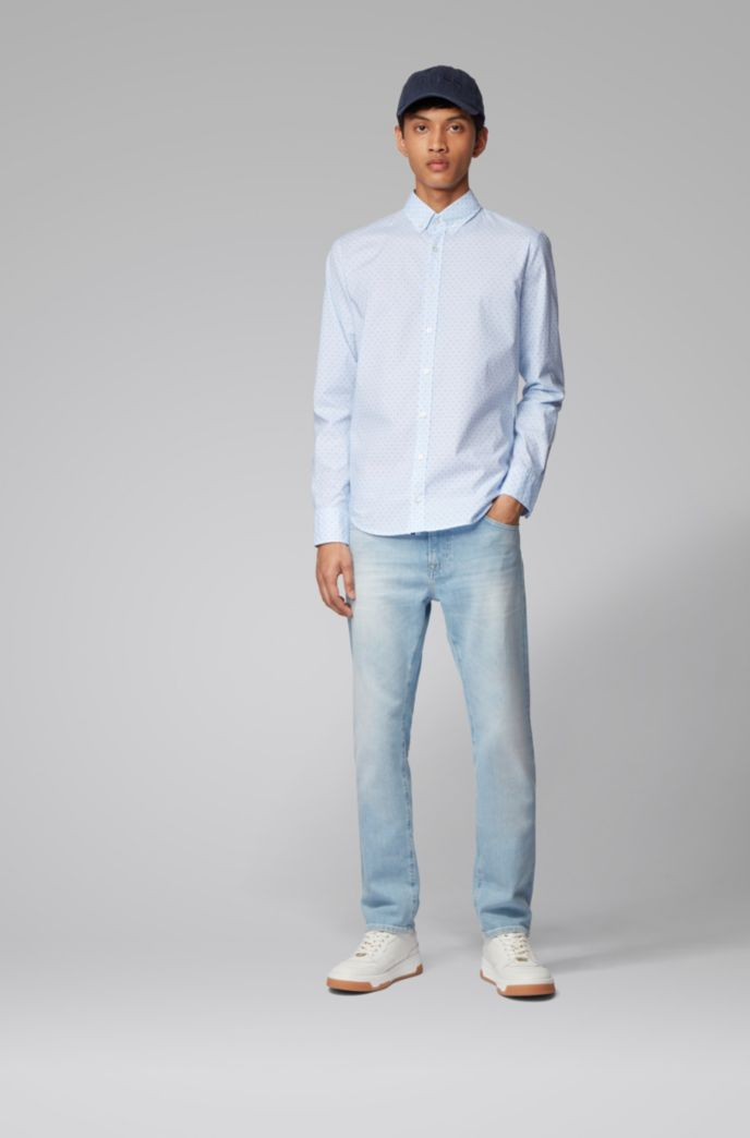 Chemise Slim Fit en coton stretch imprimé