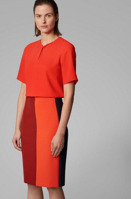 Top aus Twill mit Twist-Detail, Orange