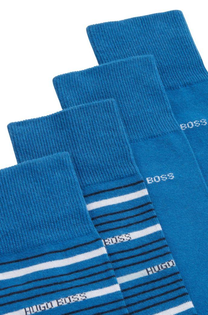 Zweier-Pack gekämmte, mittelhohe Socken