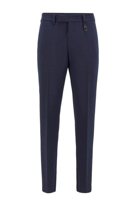 Slim-fit broek met ritsen aan de zomen uit de Fashion Show-collectie, Donkerblauw