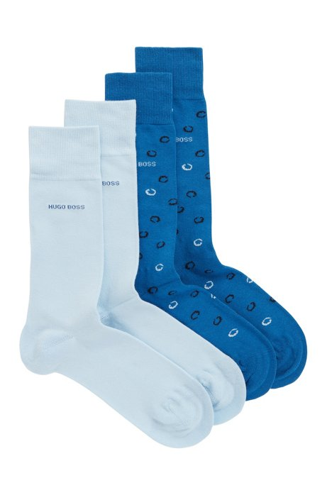 Two pack of socks in a cotton blend, Blue