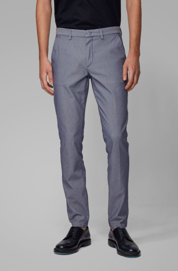 Tapered-fit chinos in a cotton blend