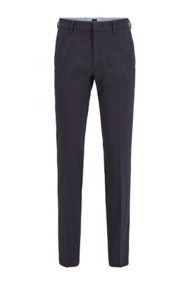 Slim-fit chinos with a tapered leg, Dark Blue