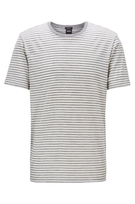 Jersey T-shirt in traceable wool, Natural