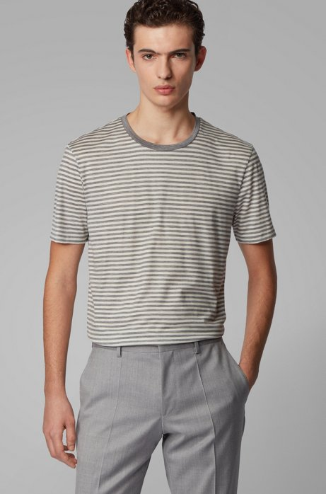 T-shirt en jersey de laine traçable, Blanc