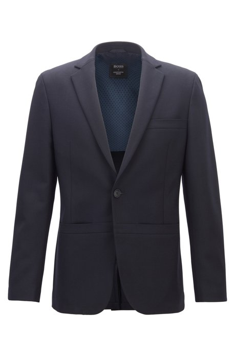 Limited Edition Konstantin Grcic jacket in stretch wool jersey, Dark Blue