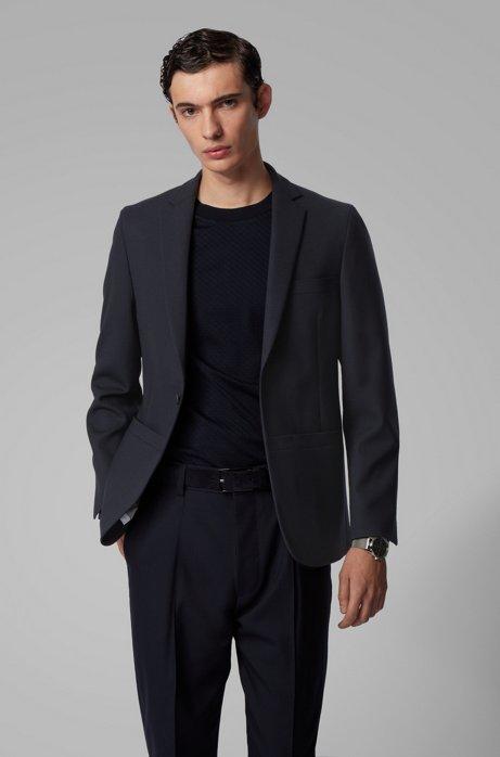 Veste Konstantin Grcic en jersey de laine stretch, en édition limitée, Bleu foncé