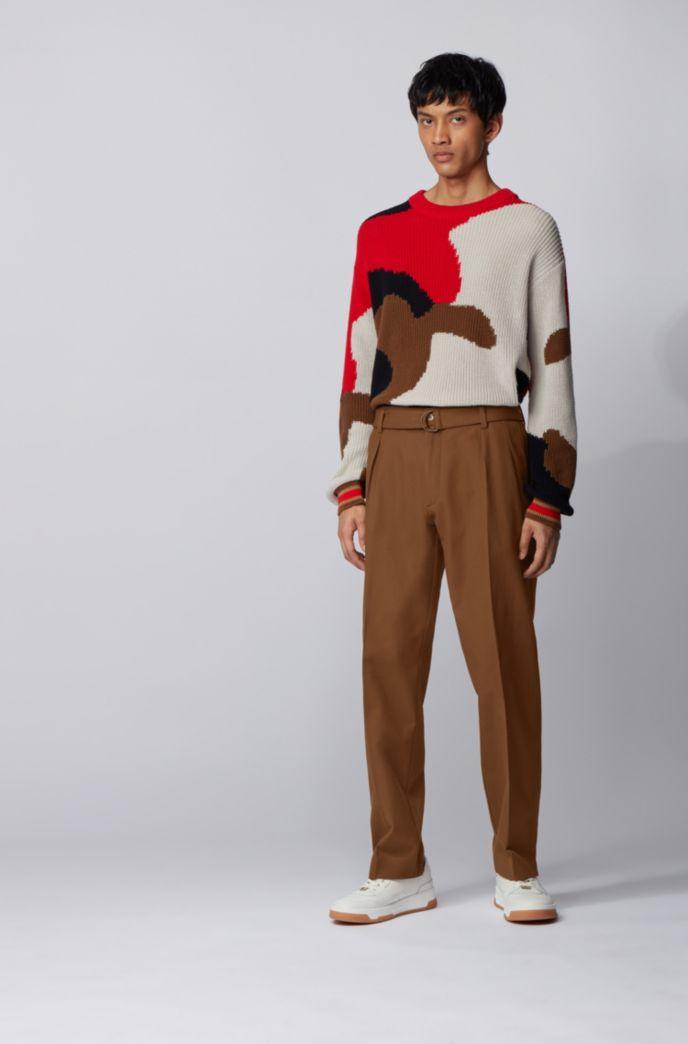 Relaxed-Fit Hose aus italienischer Stretch-Baumwolle