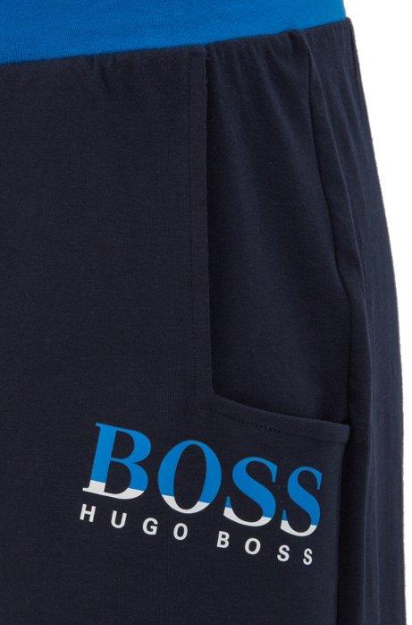Pyjamaset met tweekleurige logoprints in een cadeaubox, Donkerblauw