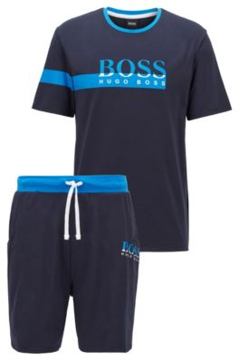 BOSS - Gift-boxed pyjama set with two-tone