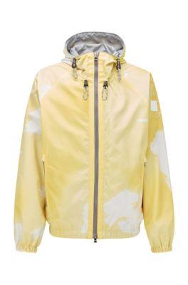 Regular-fit jas van waterafstotend materiaal, Geel