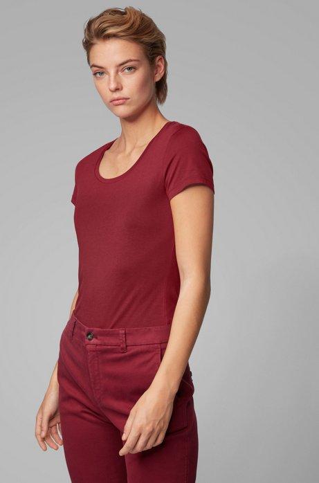 T-shirt Slim Fit en coton Pima et modal, Rouge