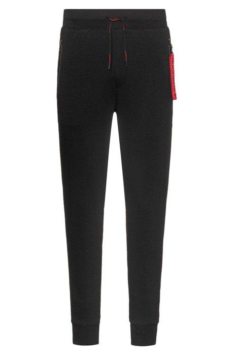 Jogginghose aus Baumwolle mit abnehmbarem Schlüsselanhänger der Kollektion, Schwarz