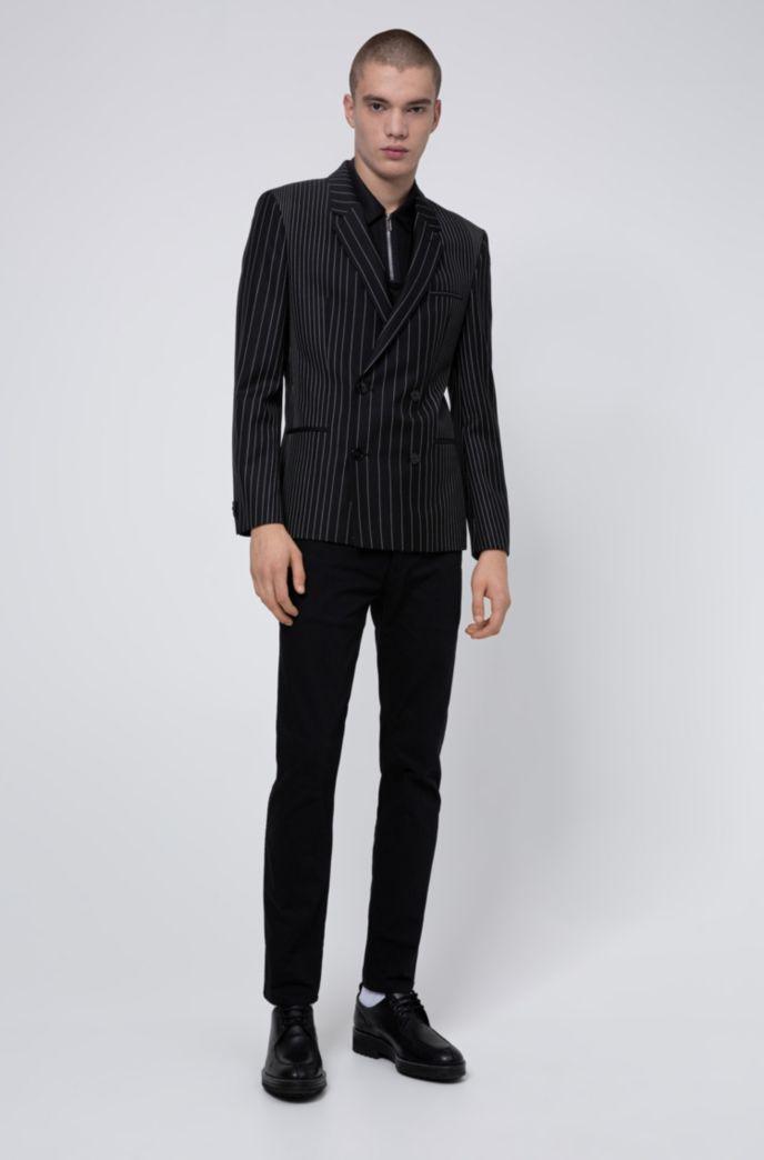 Polo Slim Fit avec col zippé