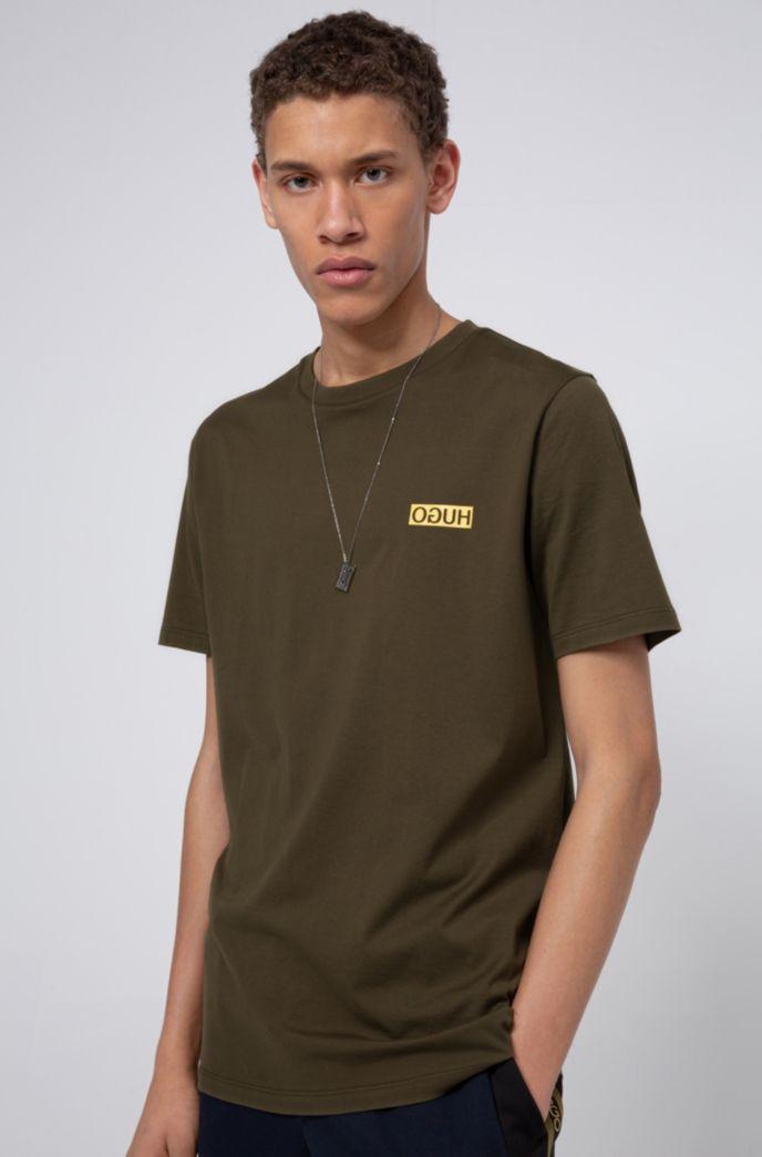T-Shirt aus Baumwolle mit aufgedrucktem Reversed-Logo