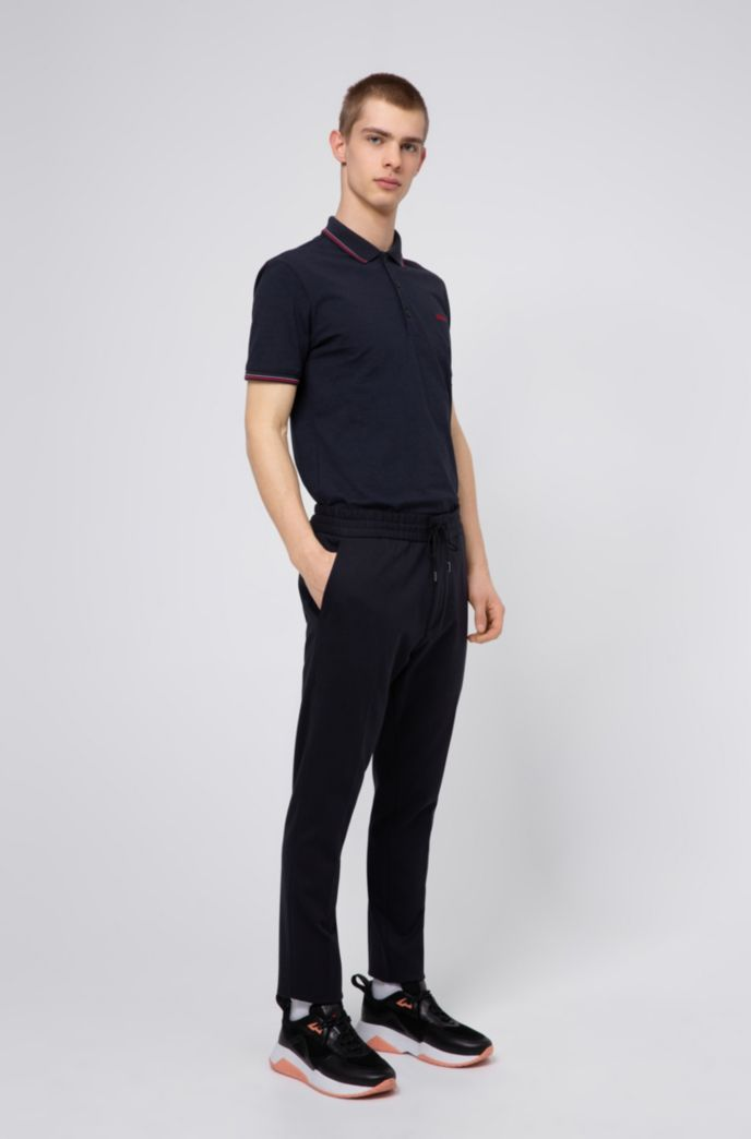 Polo Slim Fit à bordures rayées