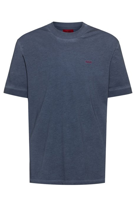 T-shirt relaxed fit in cotone ecologico Recot2®, Blu scuro