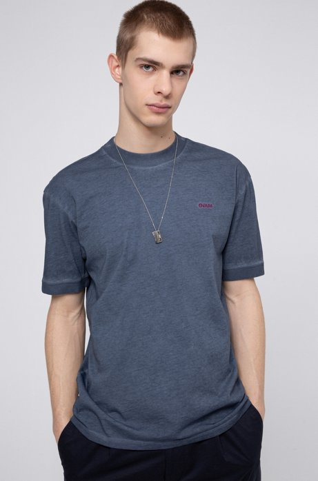Relaxed-fit T-shirt in eco-friendly Recot2® cotton, Dark Blue