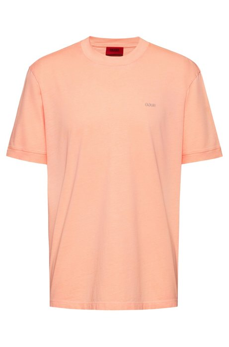 Relaxed-fit T-shirt in eco-friendly Recot2® cotton, Light Orange