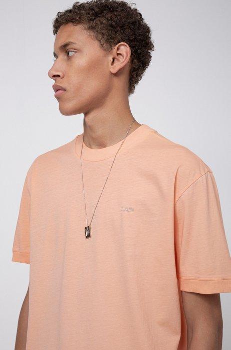Relaxed-fit T-shirt van ecovriendelijke Recot²®-katoen, Licht oranje