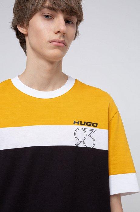 T-Shirt aus Baumwolle mit Artwork aus der Kollektion, Schwarz