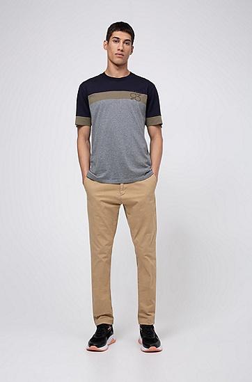 男士系列主题艺术印花宽松版型棉 T 恤,  081_淡灰色