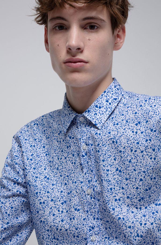 Extra Slim-Fit Hemd aus Baumwolle mit Blumenprint