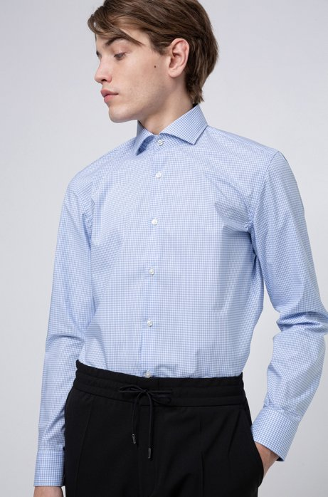 Chemise Slim Fit à carreaux, en coton facile à repasser, Fantaisie