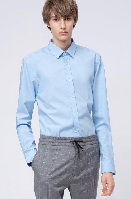 Chemise Extra Slim Fit en toile de coton stretch facile à repasser, Bleu vif