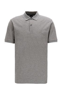 Poloshirt aus Pima-Baumwolle, Silber
