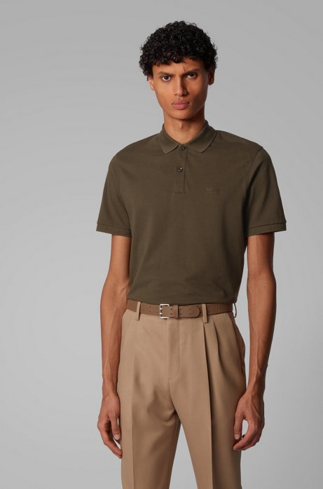 Poloshirt aus Pima-Baumwolle, Khaki