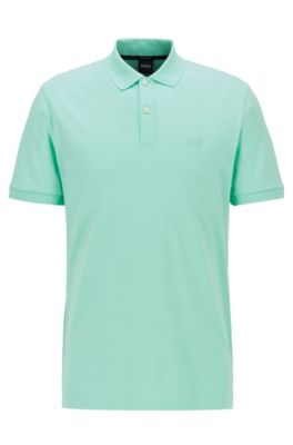 short sleeve cotton Best Company Pique Polo Shirt in Amalfi Yellow slim fit