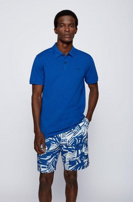 Regular-fit polo shirt in Pima-cotton piqué, Blue