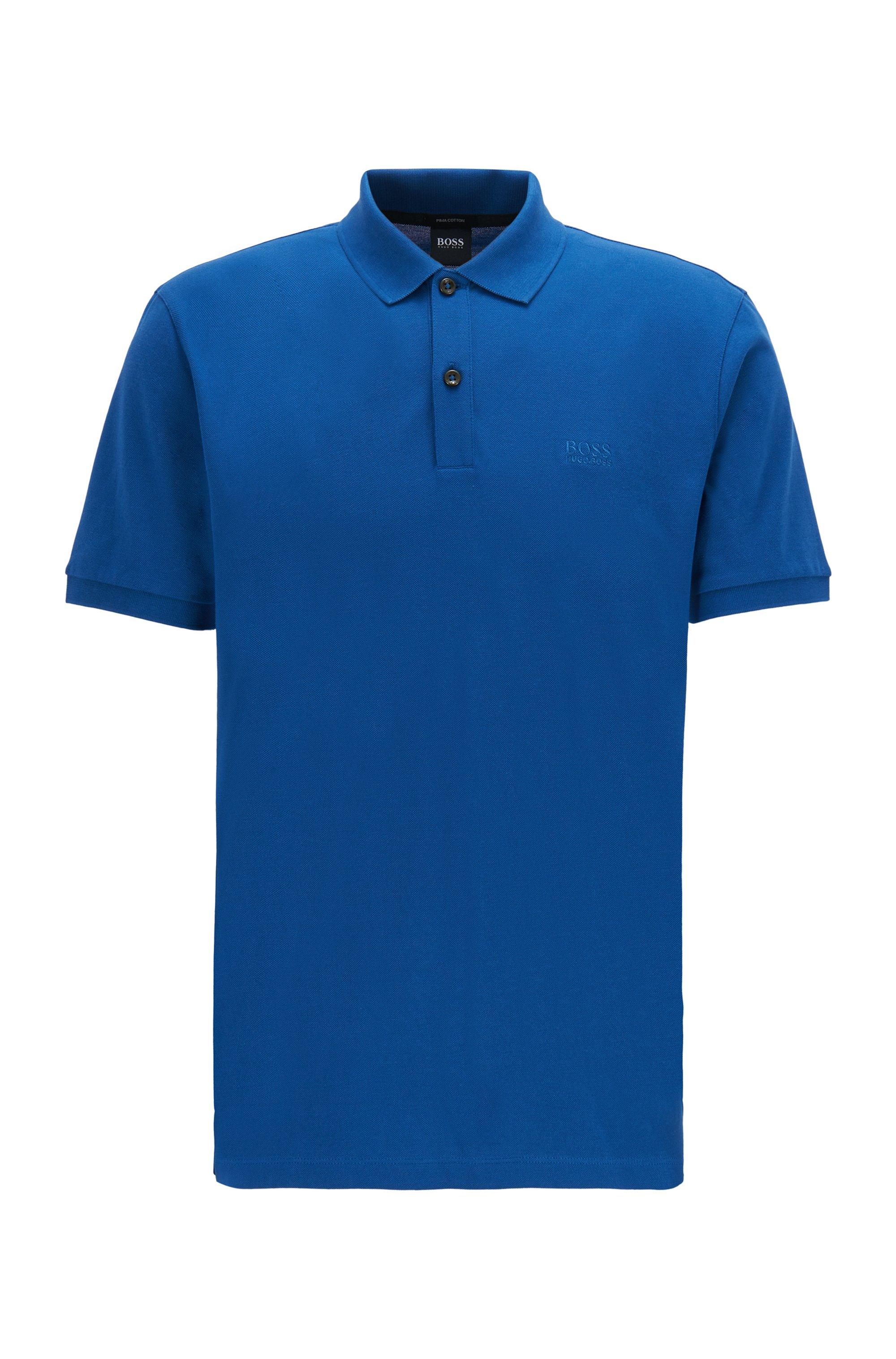 Poloshirt aus Pima-Baumwolle, Blau