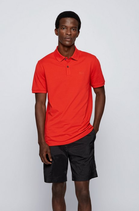 Regular-fit polo shirt in Pima-cotton piqué, Light Red