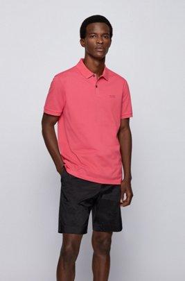 Regular-fit polo shirt in Pima-cotton piqué, Pink