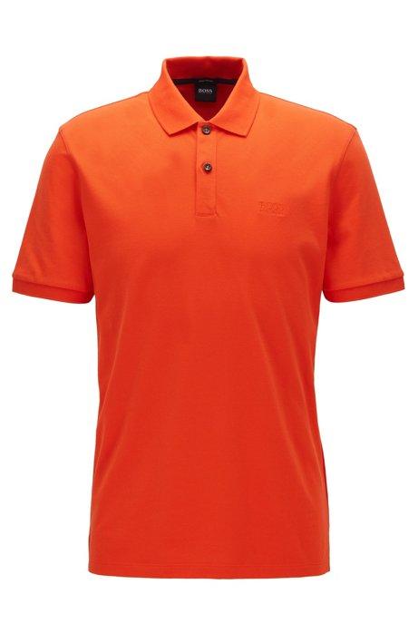 Regular-fit polo shirt in Pima-cotton piqué, Orange