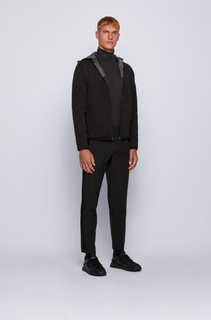 T-shirt Slim Fit en coton, à manches longues et col cheminée
